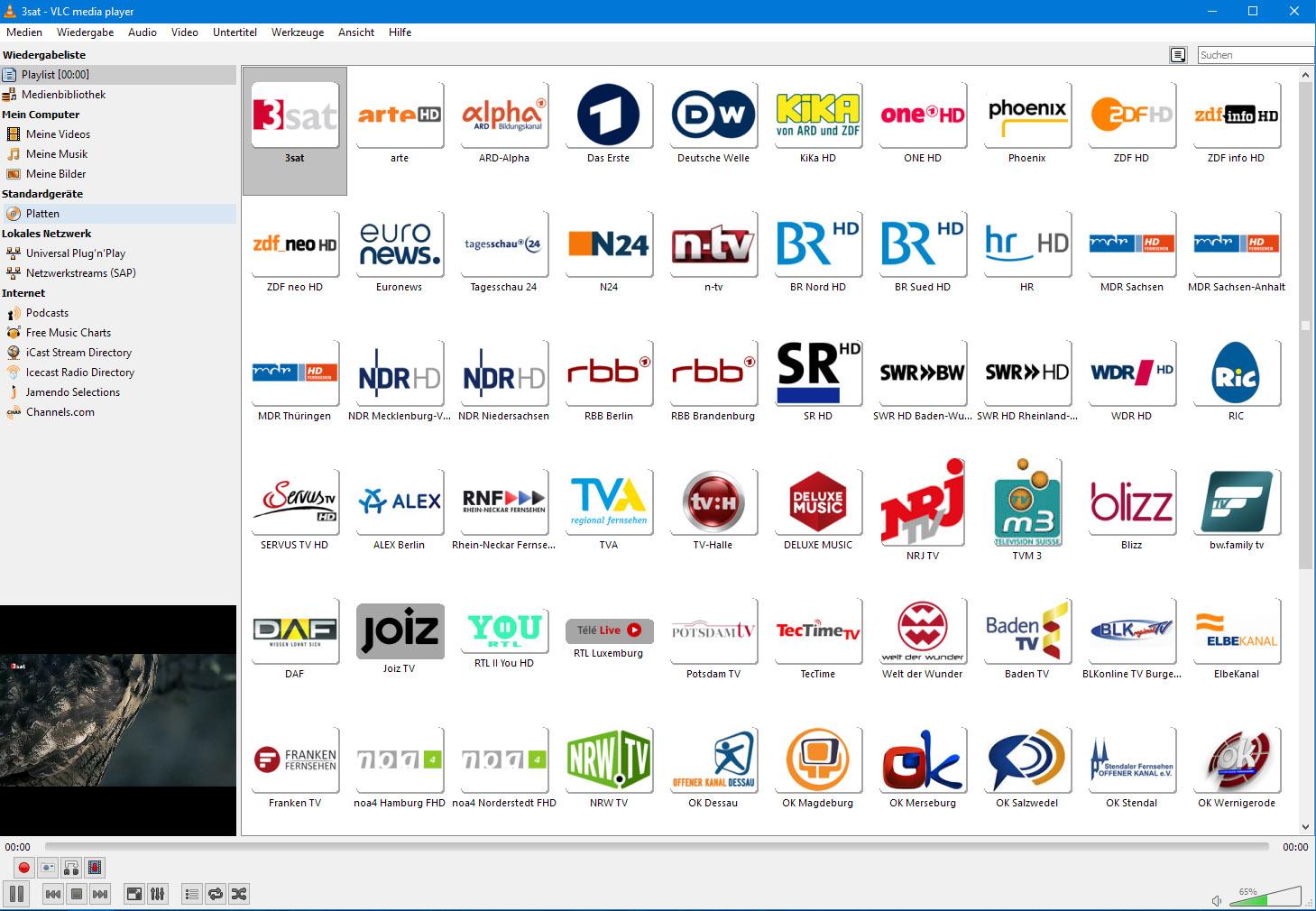 Wiedergabeliste für deutschsprachige TV-Streams - Allgemeine